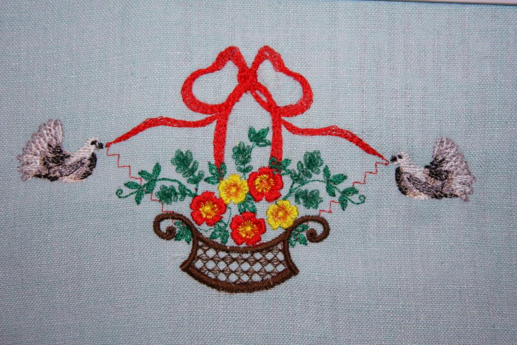 Машинная вышивка для дома 260